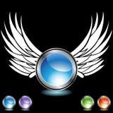 καθορισμένο φτερό χρωμίο&upsil απεικόνιση αποθεμάτων