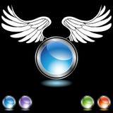 καθορισμένο φτερό χρωμίο&upsil διανυσματική απεικόνιση