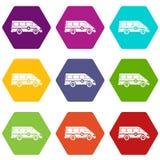 Καθορισμένο χρώμα ασθενοφόρων emergency van icon hexahedron Στοκ φωτογραφία με δικαίωμα ελεύθερης χρήσης