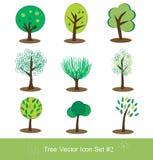 καθορισμένο διάνυσμα δέντρων εικονιδίων Στοκ Φωτογραφία