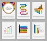Καθορισμένο Infographics για τα φυλλάδια και τις παρουσιάσεις εκπαίδευσης ελεύθερη απεικόνιση δικαιώματος