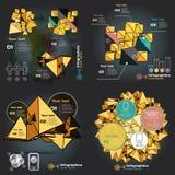 Καθορισμένο infographics με τα υγιή κύματα σε ένα σκοτεινό υπόβαθρο διανυσματική απεικόνιση