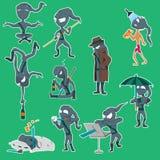 καθορισμένο ninja 10 Στοκ Εικόνες