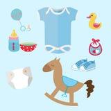 Καθορισμένο romper συλλογής ουσίας μωρών και εικονιδίων παιχνιδιών ταιριάζει, χαριτωμένο παιχνίδι, ειρηνιστής, ομοίωμα, λείες μωρ ελεύθερη απεικόνιση δικαιώματος