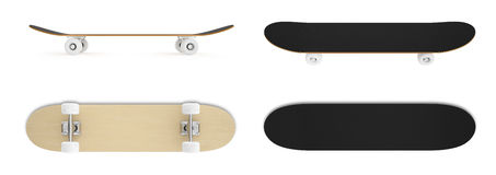 Καθορισμένο skateboard που απομονώνεται στο άσπρο υπόβαθρο Στοκ Εικόνα