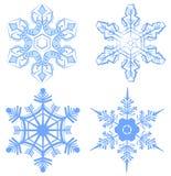 καθορισμένο snowflake Νιφάδα του χιονιού ελεύθερη απεικόνιση δικαιώματος