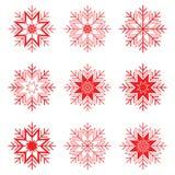 καθορισμένο snowflake Στοκ φωτογραφίες με δικαίωμα ελεύθερης χρήσης