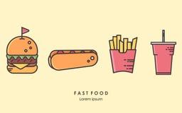 καθορισμένο taco πιτών γρήγορου φαγητού burrito kebab Ελεύθερη απεικόνιση δικαιώματος