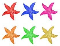 Καθορισμένο watercolor αστεριών ελεύθερη απεικόνιση δικαιώματος