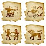 Καθορισμένο zodiac εικονιδίων παλαιό #01 Στοκ φωτογραφίες με δικαίωμα ελεύθερης χρήσης