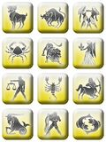 καθορισμένο zodiac 02 κουμπιών Στοκ φωτογραφίες με δικαίωμα ελεύθερης χρήσης