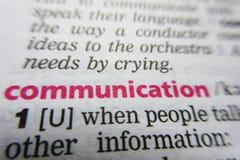 Καθορισμός λεξικών λέξης επικοινωνίας στοκ εικόνες με δικαίωμα ελεύθερης χρήσης
