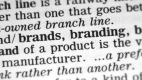 Καθορισμός λεξικών - εμπορικό σήμα απόθεμα βίντεο