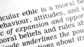 Καθορισμός λεξικών - ηθική απόθεμα βίντεο