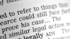 Καθορισμός λεξικών - νομικός απόθεμα βίντεο