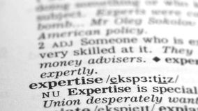 Καθορισμός λεξικών - πείρα απόθεμα βίντεο