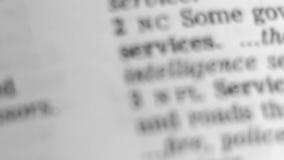 Καθορισμός λεξικών - υπηρεσία. απόθεμα βίντεο