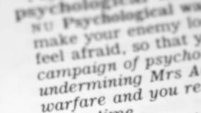 Καθορισμός λεξικών - ψυχολογία απόθεμα βίντεο