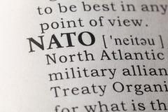 Καθορισμός λεξικών του ΝΑΤΟ στοκ φωτογραφία