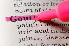 Καθορισμός λεξικών του gout στοκ φωτογραφία με δικαίωμα ελεύθερης χρήσης