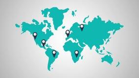 Καθορισμός προορισμών HD παγκόσμιου ταξιδιού διανυσματική απεικόνιση