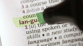 Καθορισμός της γλώσσας απόθεμα βίντεο
