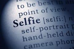 Καθορισμός της λέξης selfie στοκ εικόνες