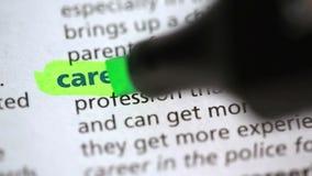 Καθορισμός της σταδιοδρομίας απόθεμα βίντεο