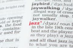 Καθορισμός της τζαζ λέξης Στοκ εικόνες με δικαίωμα ελεύθερης χρήσης