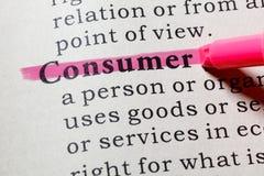 Καθορισμός του καταναλωτή στοκ εικόνες