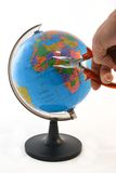 Καθορισμός του κόσμου με τις πένσες Στοκ εικόνα με δικαίωμα ελεύθερης χρήσης