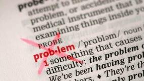 Καθορισμός του προβλήματος απόθεμα βίντεο