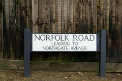 Καθοδηγήστε για το δρόμο του Norfolk Στοκ εικόνα με δικαίωμα ελεύθερης χρήσης