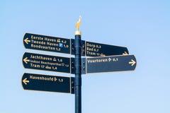 Καθοδηγήστε με τα σημάδια πληροφοριών τουριστών στο Scheveningen, Hag Στοκ φωτογραφία με δικαίωμα ελεύθερης χρήσης