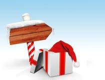 Καθοδηγήστε με το καπέλο Santa s Στοκ Εικόνες