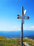Καθοδηγήστε στα ιταλικά βουνά Στοκ Εικόνα