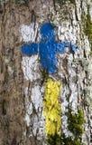 Καθοδηγώντας σημάδια ιχνών Στοκ φωτογραφία με δικαίωμα ελεύθερης χρήσης