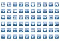 60 καθολικά εικονίδια Ιστού καθορισμένα Στοκ φωτογραφία με δικαίωμα ελεύθερης χρήσης