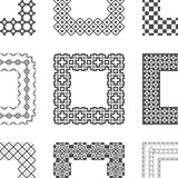 Καθολικές διαφορετικές διανυσματικές βούρτσες σχεδίων με Στοκ Εικόνα
