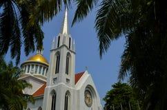 Καθολική εκκλησία στο χρόνο ημέρας Στοκ Εικόνα