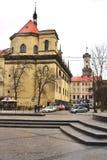 Καθολική εκκλησία του Jesuits, μια οδός στο κέντρο Lviv, Ουκρανία στοκ εικόνες