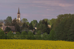 Καθολική εκκλησία Leutersdorf Στοκ φωτογραφία με δικαίωμα ελεύθερης χρήσης