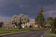 Καθολική εκκλησία Leutersdorf Στοκ Εικόνα