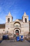 Καθολική εκκλησία Plaza de Armas σε Chivay, Περού Στοκ φωτογραφία με δικαίωμα ελεύθερης χρήσης