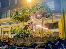 Καθολική πομπή στην πόλη Arequipa στο Περού Στοκ εικόνα με δικαίωμα ελεύθερης χρήσης