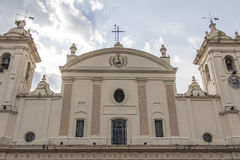 Καθολικός εθνικός καθεδρικός ναός στην κύρια Asuncion, Παραγουάη νότος Στοκ Φωτογραφίες