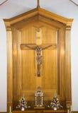 Καθολικός θρησκευτικός σταυρός στοκ φωτογραφία