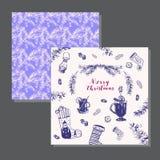 καθολικός Ιστός προτύπων σελίδων χαιρετισμού Χριστουγέννων καρτών ανασκόπησης Στοκ Εικόνα