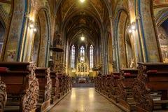 Καθολικός καθεδρικός ναός μέσα Στοκ εικόνα με δικαίωμα ελεύθερης χρήσης