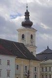 Καθολικός πύργος του Sibiu Ρουμανία καθεδρικών ναών στοκ εικόνες με δικαίωμα ελεύθερης χρήσης